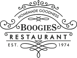 Boogies Restaurant Del Norte Colorado Best Burgers Steaks Breakfasts Pies Cinnamon Rolls Logo
